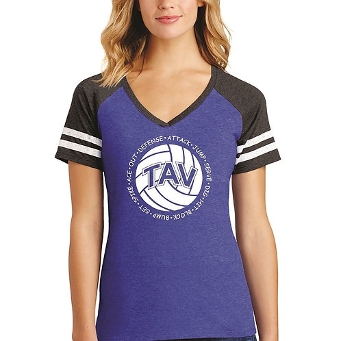 Volleyball Sayings - District ® Women's Game V-Neck Tee