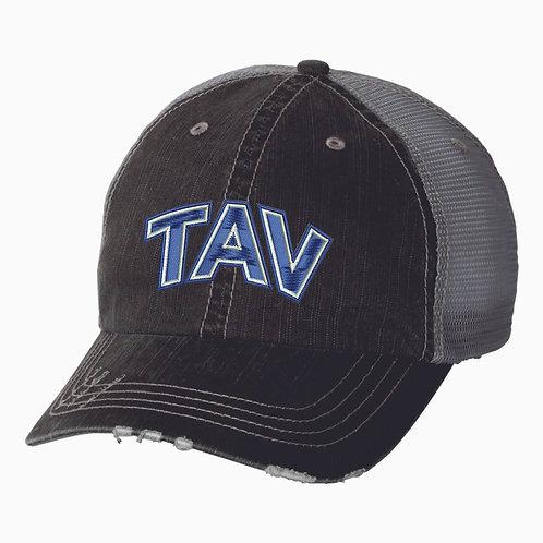 EMBROIDERED TAV Logo - Ladies Mega Cap Herringbone Trucker Cap