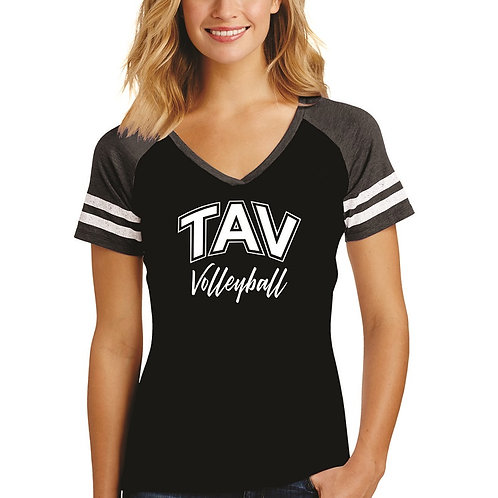 TAV VOLLEYBALL - District ® Women's Game V-Neck Tee