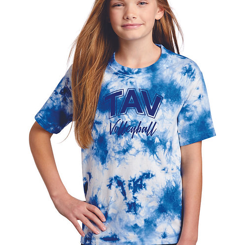 TAV Volleyball - Port & Company ® Youth Crystal Tie-Dye Tee
