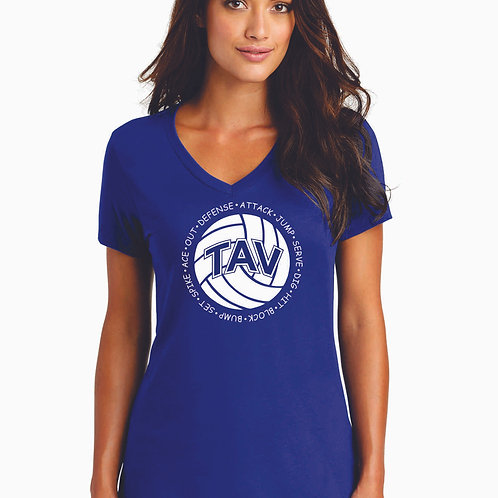Volleyball Sayings - District ® Women's Perfect Weight ® V-Neck Tee