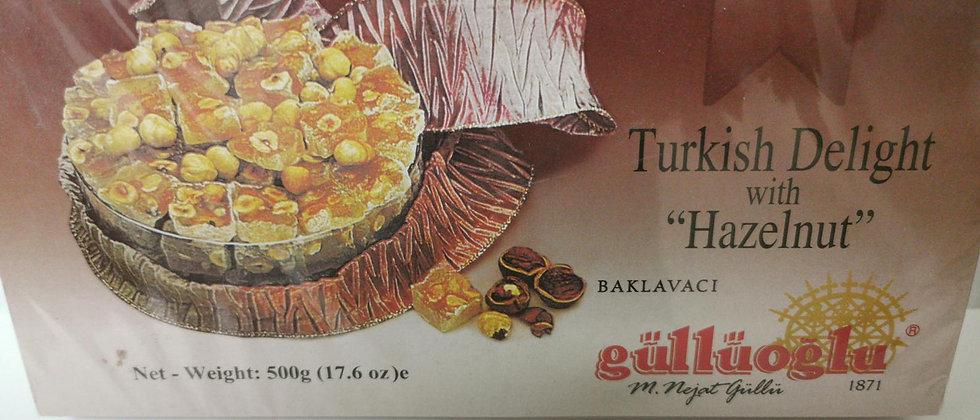 Gulluoglu Turkish Delight with Hazelnut 500 gr (17.6 oz)