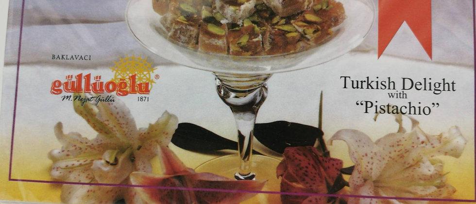 Gulluoglu Turkish Delight with Pistachio 500 gr (17.6 oz)