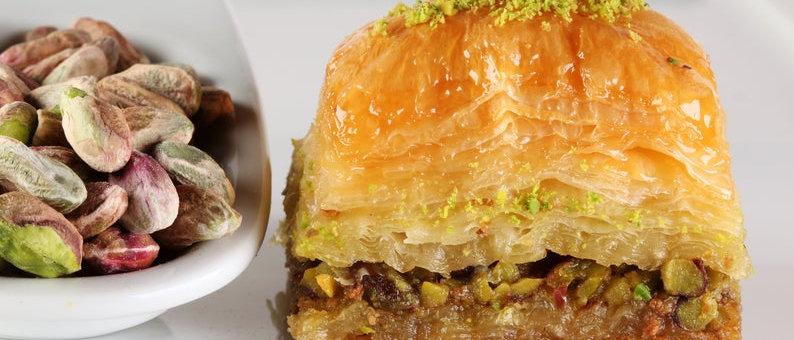 Premium Square Baklava with lots of Pistachio (Özel Kare Baklava)