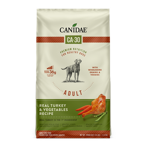 Canidae CA-30 Real Turkey, Peas & Carrots Recipe Dog