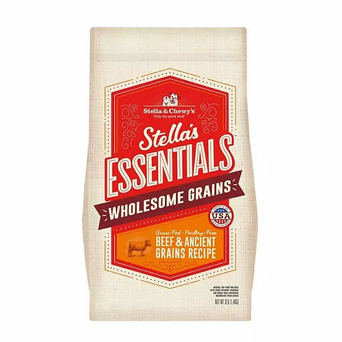 Stella & Chewy's Essentials: Wholesome Grains Grass-Fed Poultry-Free Beef Recipe