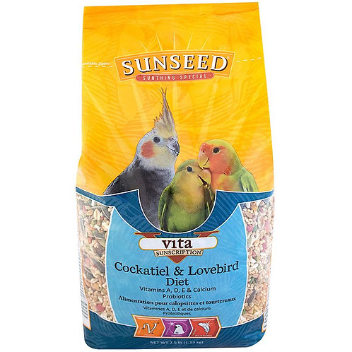 Sunseed Vita Cockatiel & Lovebird Diet
