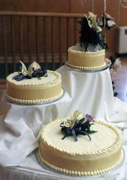 Tri-cake White Chocolate Cake