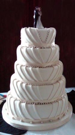 Multi-Layer Fondant Wrapped Wedding Cake