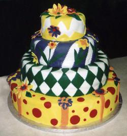 Colorful Fondant Cake