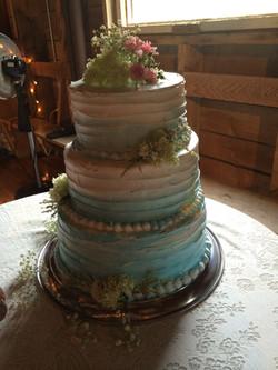 Blue & White fade Wedding