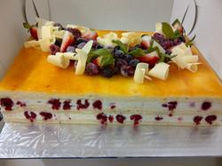 Vanilla Slab Cake