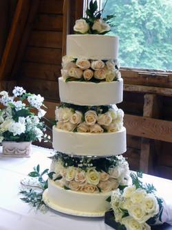 Multi Layer Fresh Roses & Butter Cream