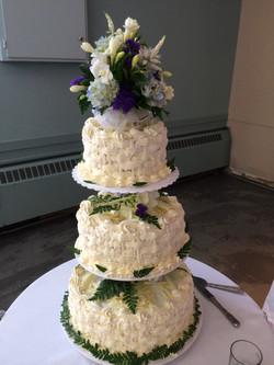 Triple Layer Wedding Basket Weave