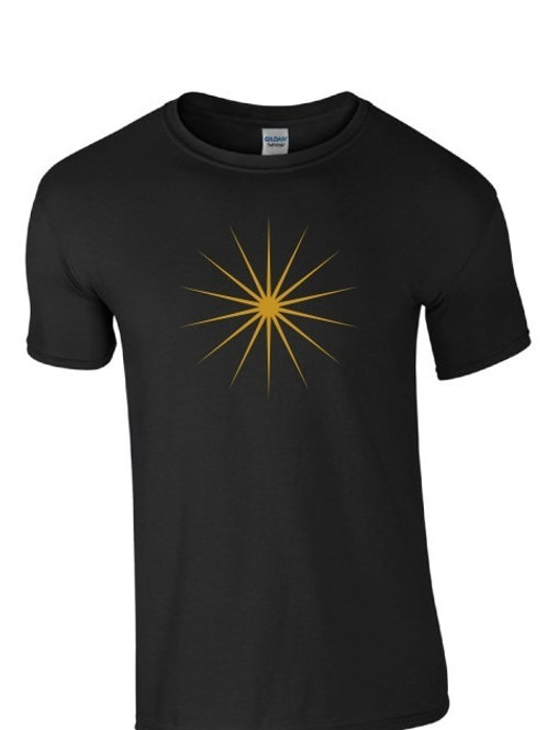 Bright Light T-Shirt in Black (Gold Print)