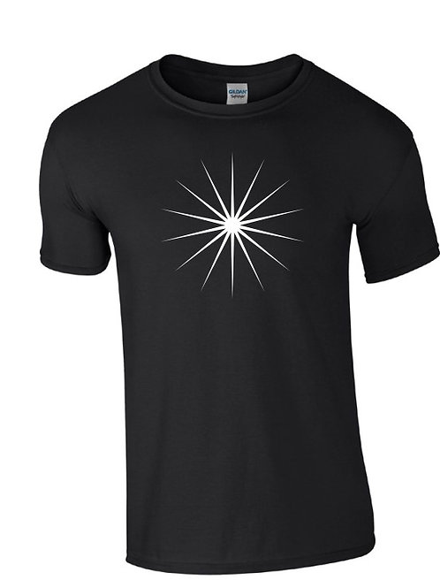 Bright Light T-Shirt in Black (White Print)