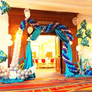 Under the Sea Balloon Arch.JPG