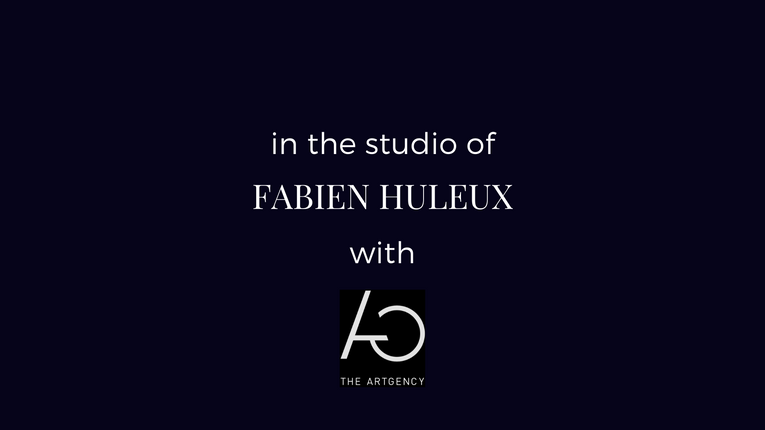 in the studio of Fabien Huleux with The ArtGency