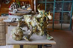 Sculpture garden Sylvains' bull