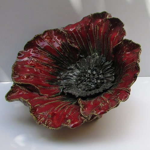Ceramic poppy bowl XL