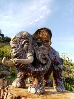 Sculpture garden- Sylvains'elephant 1jpg