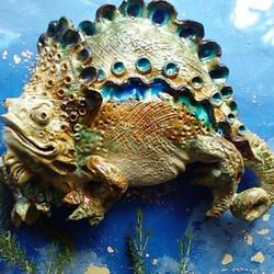 Sculpture garden Sylvains' chameleon