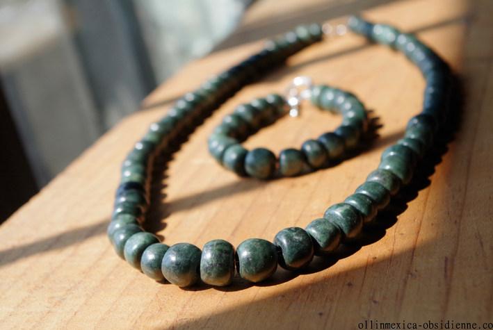 Jade guatemala beads necklace bracelet (