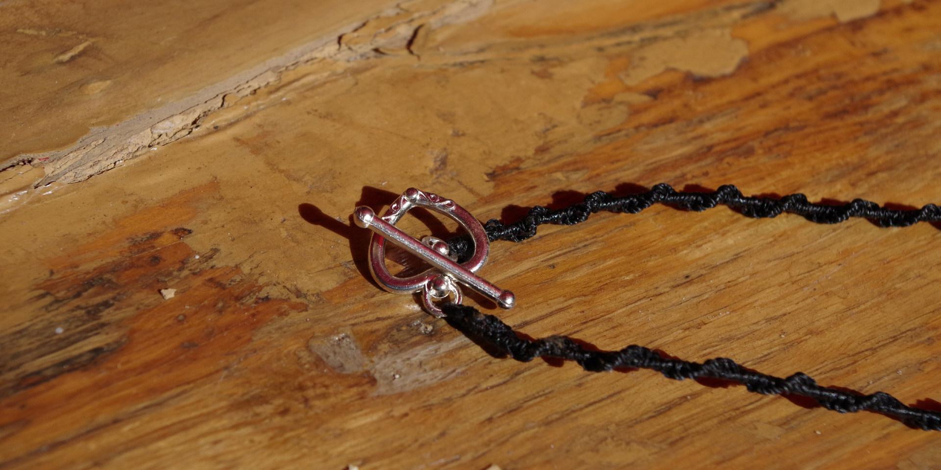 Hunab ku obsidienne collier pendentif (1