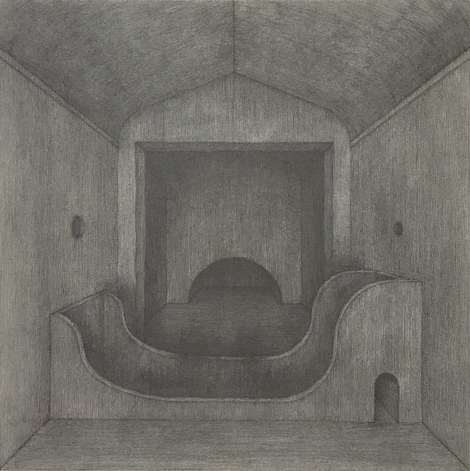 Hong Buhm, another room #1, ink, graph, 25x25cm, 2019