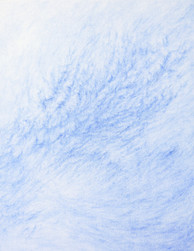 Kim Yunsoo, Surface of wind, Ultramarine blue pastel on canvas, 43x33.8cm, 2019