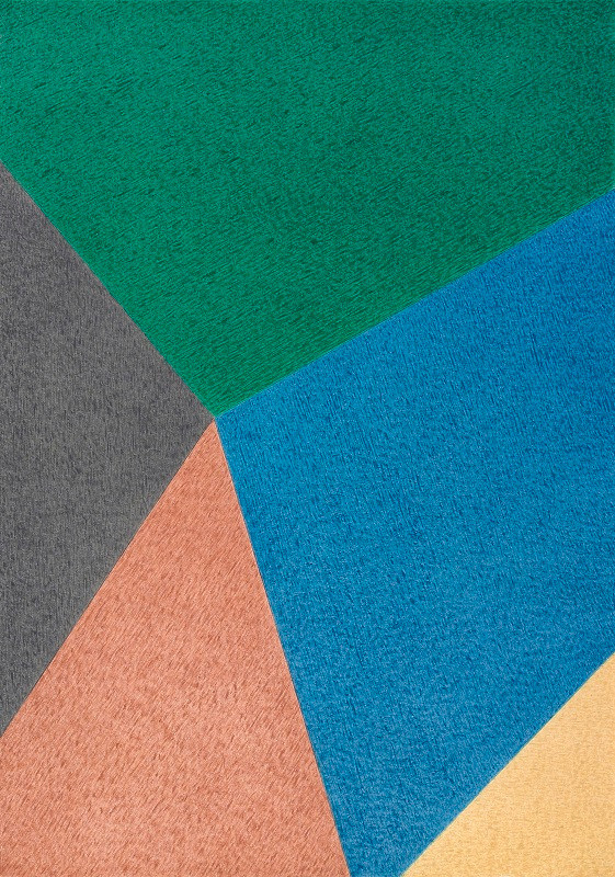 박기원, 넓이, Oil color on paper, 214x150cm, 2012