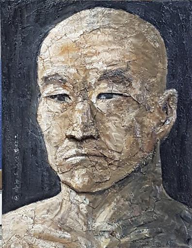 김을, 자화상, 52x40cm, 2017