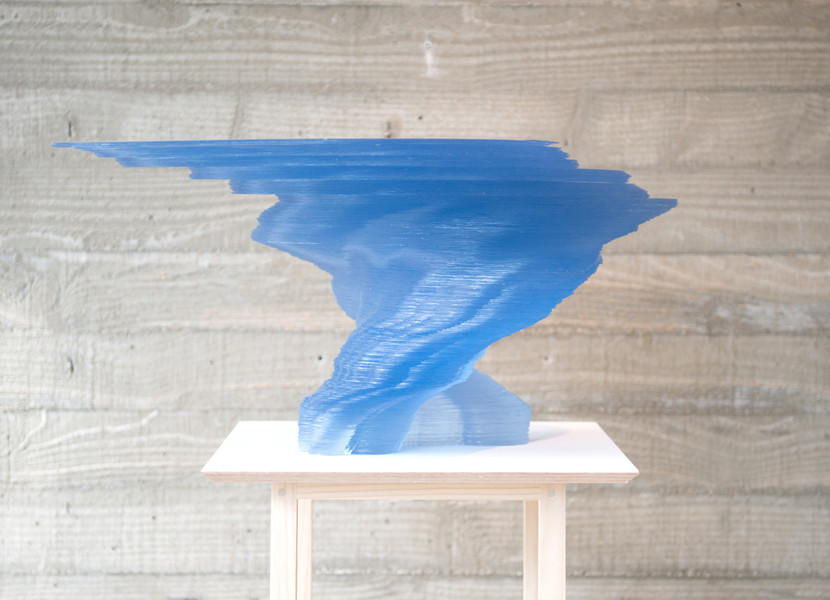 김윤수, The Song from beyond (for Wayne), Accumulating PVC, 31(h)x62x43cm, 2014