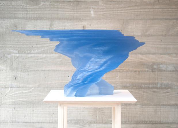 김윤수, The Song from beyond (for Wayne), Accumulating PVC, 31(h)x62x43cm, 2014