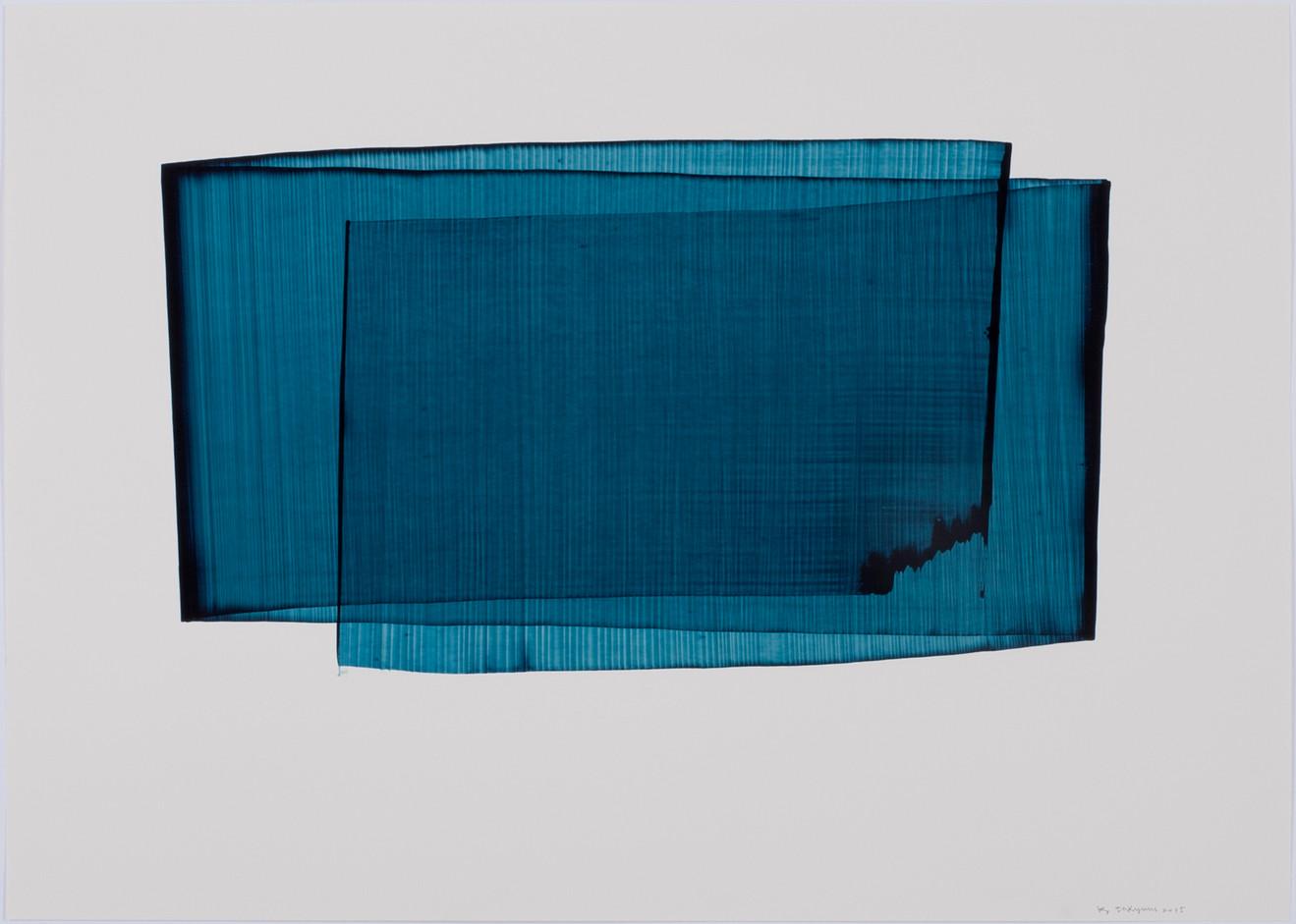 김인겸, Space-Less, Acrylic ink on Paper, 79x109cm, 2015