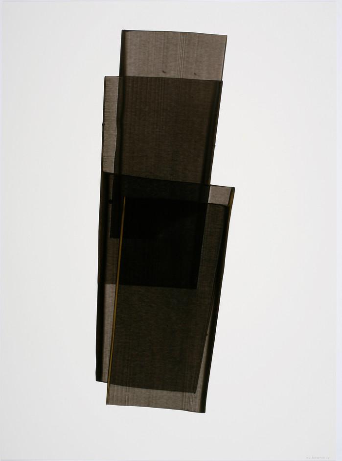 김인겸, Space-Less, 79x109cm, India ink with Gold ink on paper, 2006