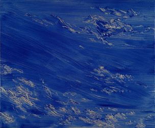 Bae Jong Heon, Ethereal Mountain #002, Oil on birch plywood, 37x45cm, 2018