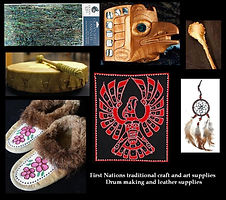 Moccasins, Leather, Dream Catcher, Drums, Abalone