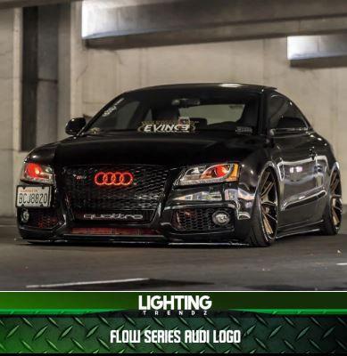 Illuminated Flow Series Audi Badge