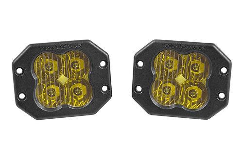 Diode Dynamics SS3 LED Pod Pro Series Flush Mount (Yellow; Pair)