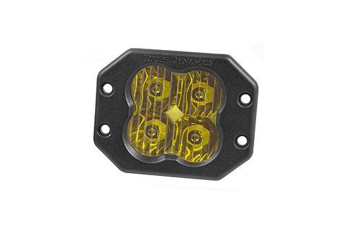 Diode Dynamics SS3 LED Pod Pro Series Flush Mount (Single; Yellow)
