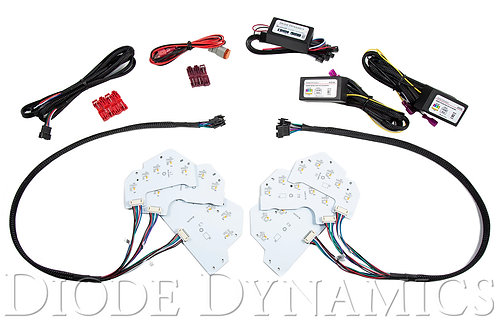 2018 Ford Mustang RGBW DRL LED Boards USDM/EU Diode Dynamics