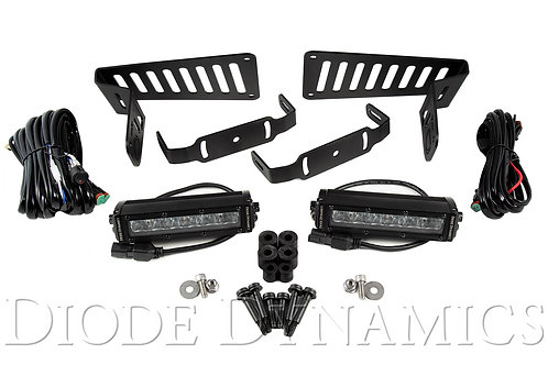 Jeep JL 2018-2019 Stage Series 6 Inch Cowl LED Kit White Driving Diode Dynamics