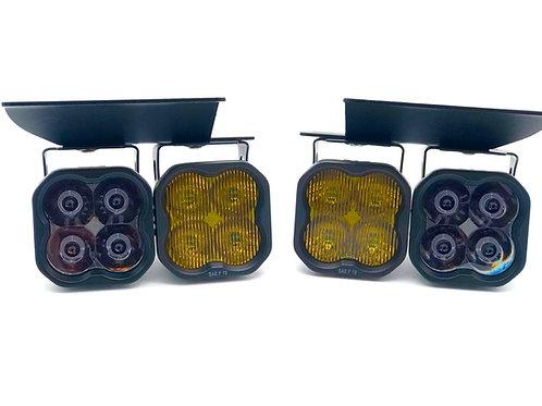 Chevrolet Silverado (03-07; Cateye): SS3 Dual SAE LED Fog Light Kit