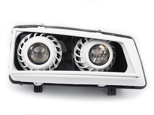 Chevy Silverado (Cateye; 03-07): Custom Headlights Quad Bi-LED Projector Stage 3