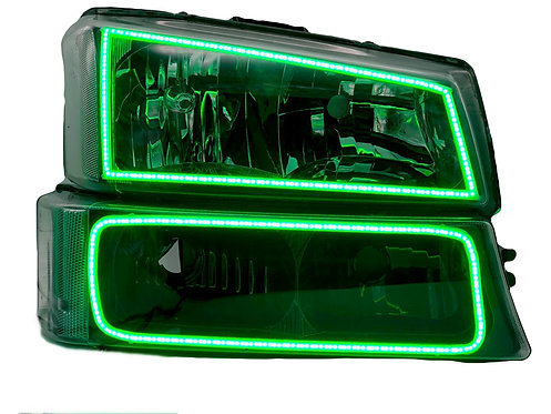 Chevrolet Silverado (03-07): Custom RGB Halo Headlights