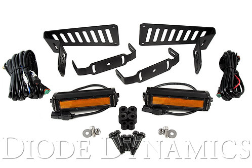 Jeep JL 2018-2019 Stage Series 6 Inch Cowl LED Kit Amber Flood Diode Dynamics