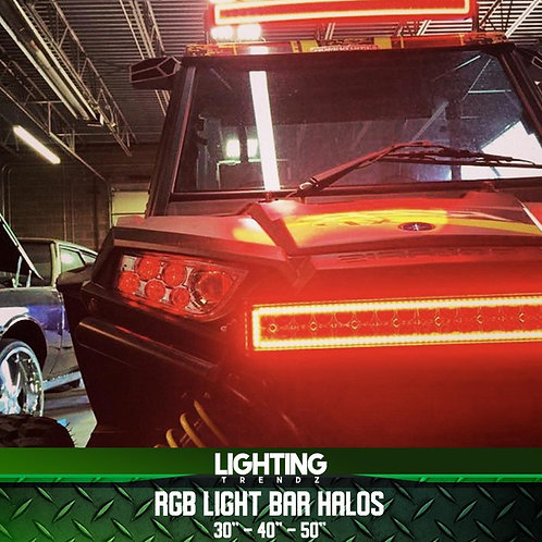 "RGB Light Bar Halos (30"", 40"", 50"")"