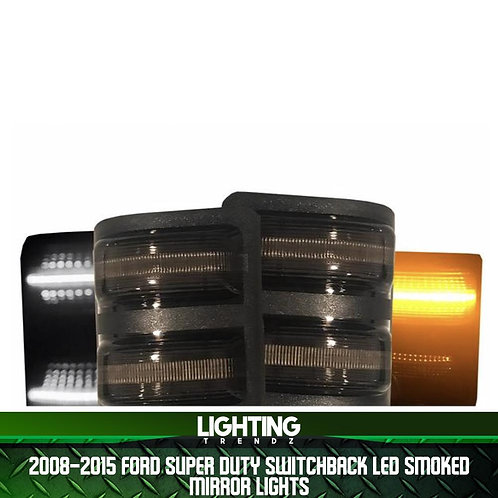 2008-2015 Ford Super Duty   Switchback LED Smoked Mirror Lights