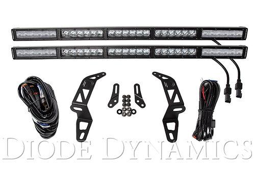 Jeep 2018 SS30 Bumper LED Kit White Combo Dual Diode Dynamics